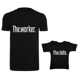 Twinning set - herenshirt & baby shirt - The Worker - The Bills