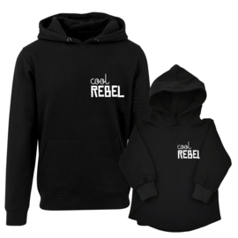 Twinning hoodies | Cool Rebel | Black