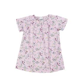 Cotton Summer Dress | Flowerprint Light Pink | Handmade