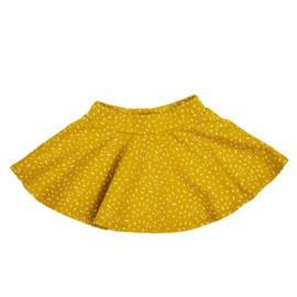 Cirkelrokje | Sprinkles Ochre Yellow | Handmade