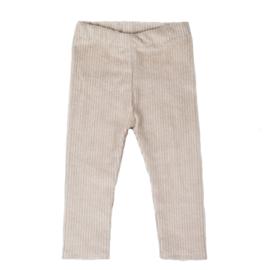 Legging | Cotton Rib | Sand | Handmade