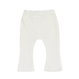 Flared Pants | Mini Rib | Whisper White | Handmade