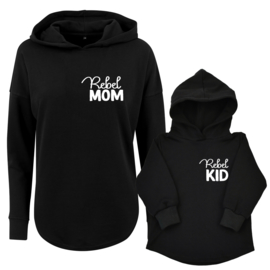 Twinning hoodies | Rebel Mom | Rebel Kid | Black