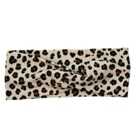 Haarband Twist   Mini Leopard   Handmade
