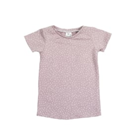T-Shirt Dress | Sprinkles Old Rose | Handmade