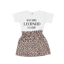 Shirt Leopard is a Color | Rokje Leopard Old Pink