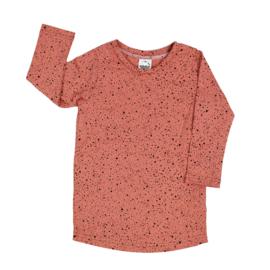 T-Shirt Dress   Rosy Amber   Handmade