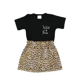 Shirt Wild & Free | Rokje Leopard Beige