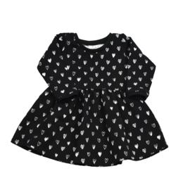 Long Sleeve Dress | Hearts | Handmade