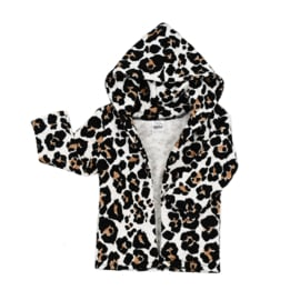 Hoodie vest | Creamy Leopard | Handmade
