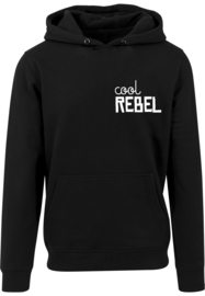 Heren Hoodie | Cool Rebel | Black