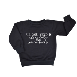 Sweater | All You Need Is | 7 Kleuren