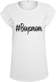 Dames Shirt - #Boysmom