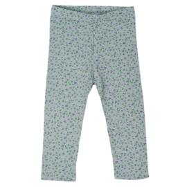 Legging | Mini Flower | Old Green | Handmade
