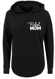 Baggy Dames Hoodie | Rebel Mom | Black