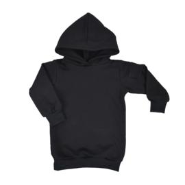 Hoodie dress met zijzakje | Black | Handmade