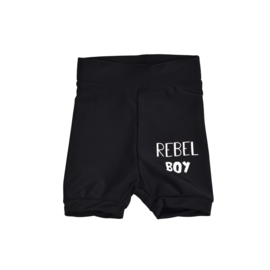 Swim shorts | Black | Rebel Boy | Handmade