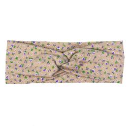 Haarband Twist   Mini Flower Taupe   Handmade