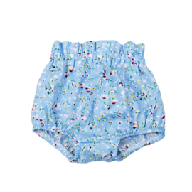 Bloomer | Flowerprint Light Blue | Handmade