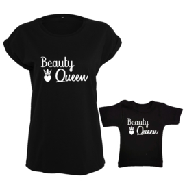 Twinning set - Dames shirt & Baby shirt - Beauty Queen