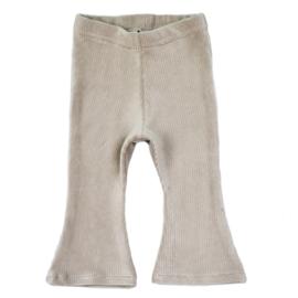 Flared Pants   Soft Rib Sand   Handmade