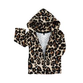 Hoodie vest | Sandy Leopard | Handmade