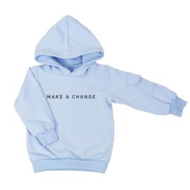 Hoodie met cargozakje | Make a Change | 7 Kleuren