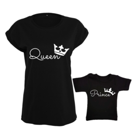 Twinning set - Dames shirt & Baby shirt - Queen - Prince