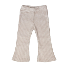 Flared Pants | Cotton Rib | Sand | Handmade