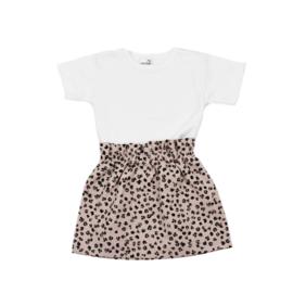 Shirt Basic | Rokje Leopard Old Pink