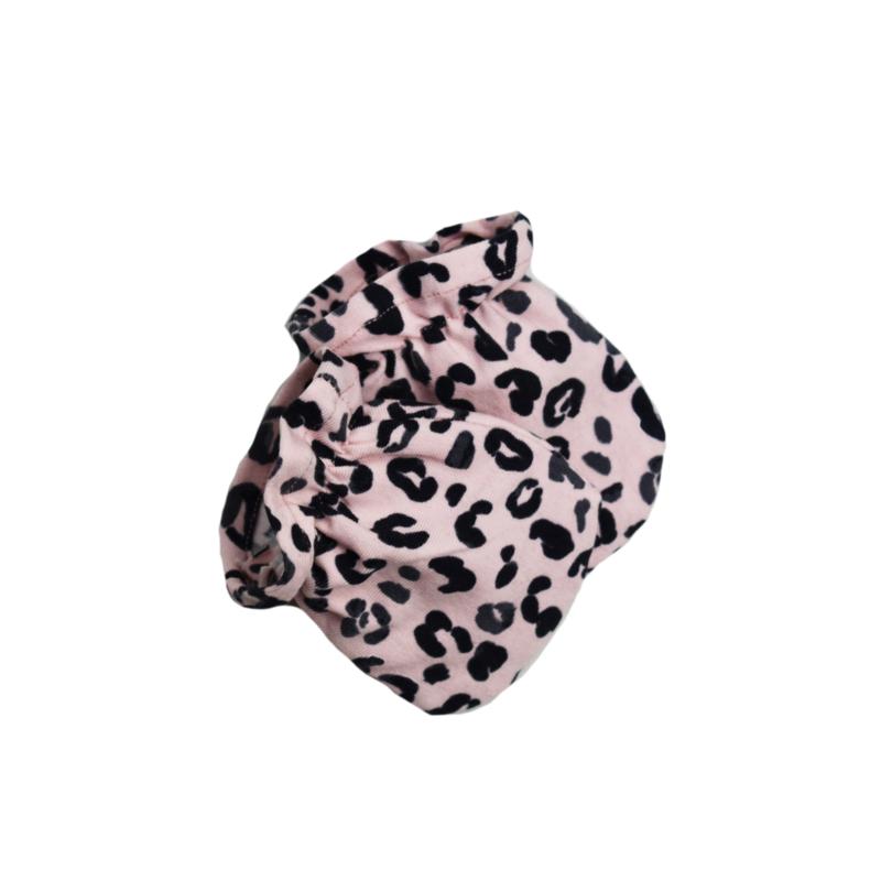 Krabwantjes   1 paar   Leopard Baby Rose    Handmade