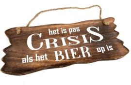 Crisis als het bier