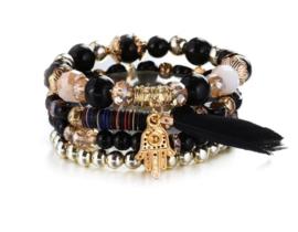 Crystal armband Goud