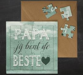 "puzzel kaart "" Papa"""