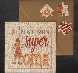 "puzzel kaart ""Super Oma"""