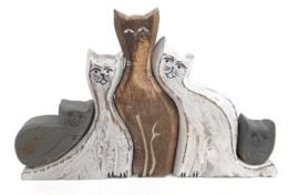 Houten katten