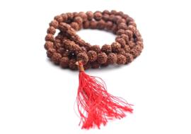 Rudraksha 108 kralen mala voor meditatie en yoga