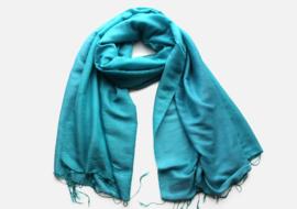 Adriatisch blauwe water pashmina sjaal