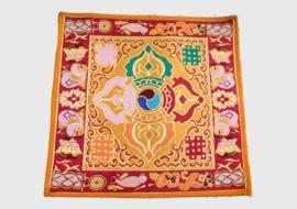 Dubbel Dorjee religieus altaarkleed uit brocaat