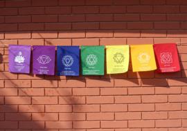 Zeven chakras gebedsvlaggen - groot