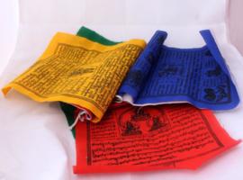 5 rollen katoenen boeddhistische gebedsvlaggen