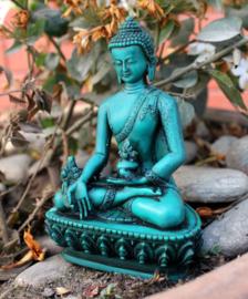 Groen medicine Boeddhabeeld
