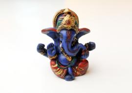 Handgeschilderd blauw baby Ganesha beeldje