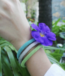 Glaskralen armbanden set van 3 - fair trade