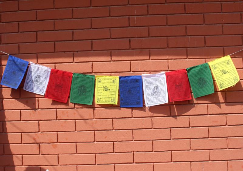 5 rollen katoenen Tibetaanse gebedsvlaggen