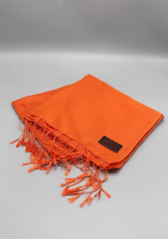 Orange water pashmina sjaal