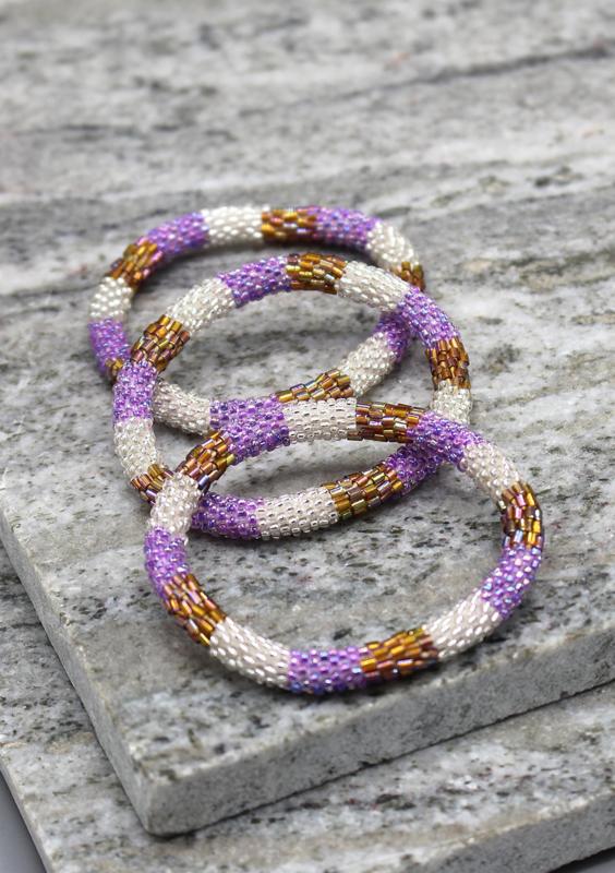 Glaskralen armband - veelkleurig