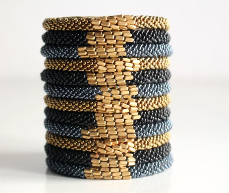 Glaskralen armband