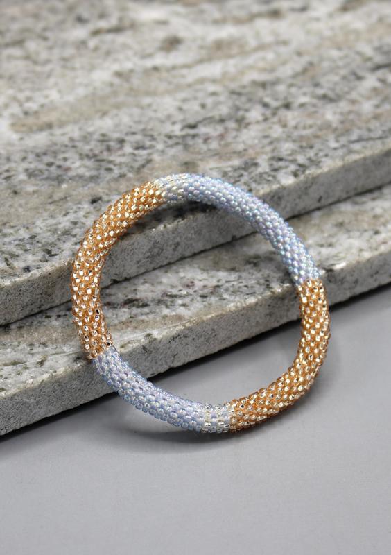 Glaskralen armband - fair trade
