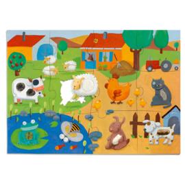 Grote tactiel puzzel - boerderij